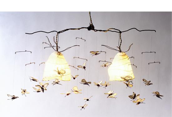 lampe papillon le fils de fer fait main depuis 2003. Black Bedroom Furniture Sets. Home Design Ideas